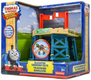 NEW-Fisher-Price-Thomas-amp-Friends-Wooden-Railway-Elevated-Crossing-Gate-BDG64