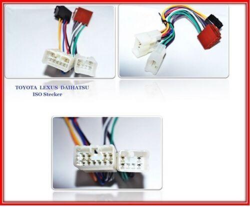 Din Adaptador de Cable Conector Radio Coche Apto para Toyota Prius Yaris Rav 4