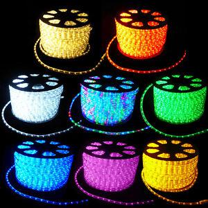 LED-Lichterschlauch-Lichtschlauch-Licht-Schlauch-Lichterkette-leiste-Aussen-Innen