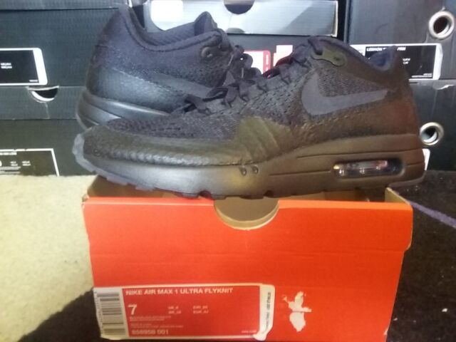 huge discount d81bf f0b5b Nike Air Max 1 Ultra Flyknit Black Anthracite free lunar prm 90 95 97 856958  001