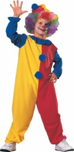CHILD BOYS GIRLS CLOWN HALLOWEEN PARTY FANCY DRESS COSTUME ASS SIZES FRE UK P+P