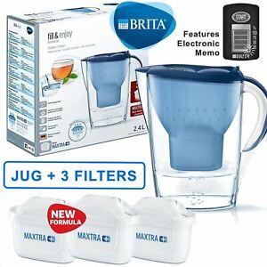 BRITA-Marella-MAXTRA-Plus-2-4L-Water-Filter-Jug-3-Month-Cartridges-Pack-Blue