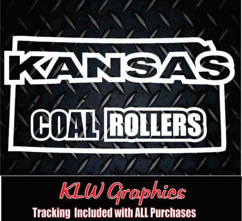 Kansas Coal Rollers* Vinyl decal Sticker Turbo Diesel Truck Crew Cab 2500 3500