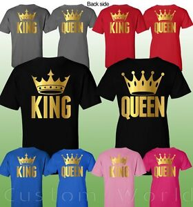 f3a6870f7b Image is loading Couple-Shirt-King-and-Queen-Matching-Couple-Clothes-