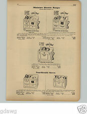 1951 PAPER AD Mini Miniature Toy Electric Range Stove Oven Little Chef Tacoma Co
