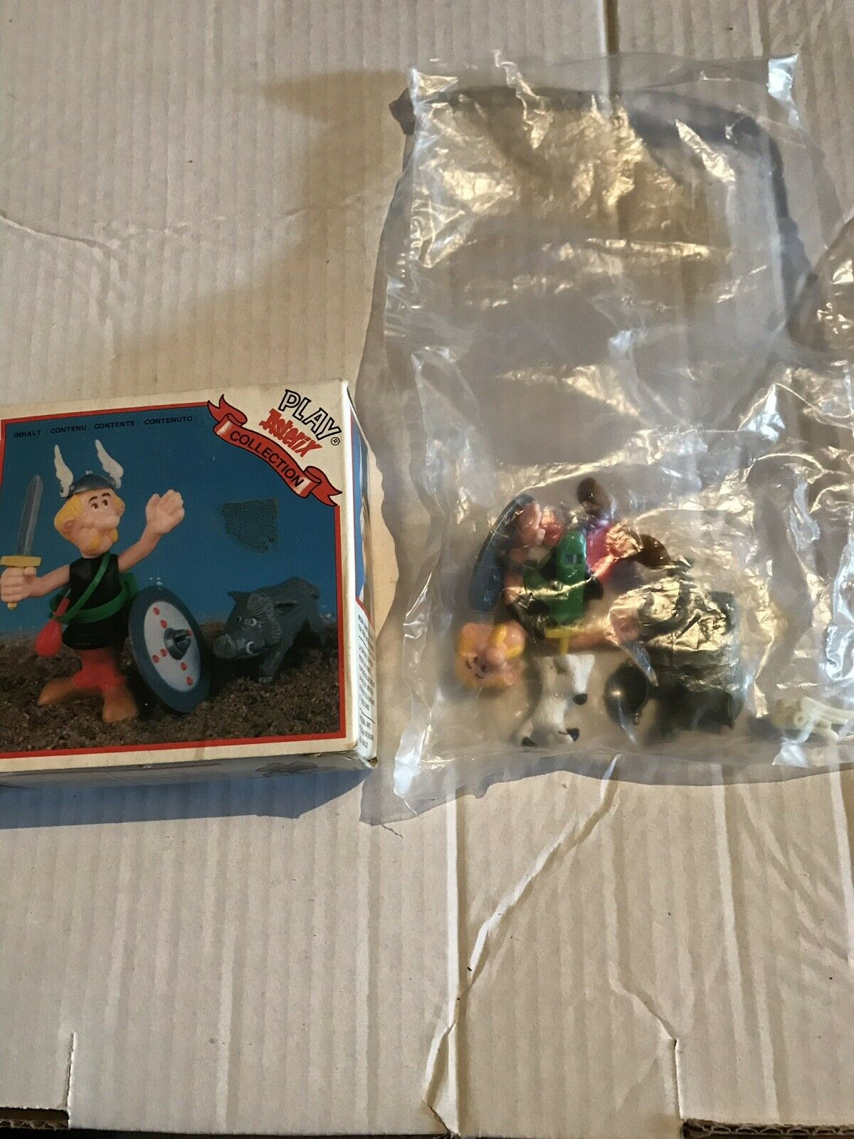 VINTAGE 1980 BOXED PLAY ASTERIX THE GAUL TOY CLOUD COMPLETE NEW SEALED IN BAG