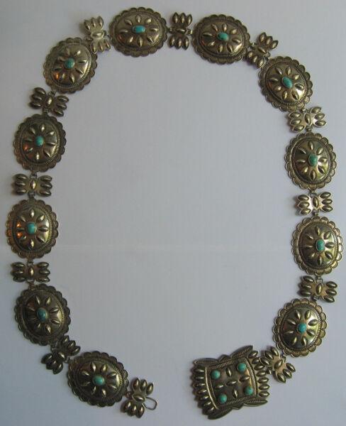 2019 Mode Wunderschön Vintage Navajo Indianer Sterling Silber Türkis Concho Damen GÜrtel