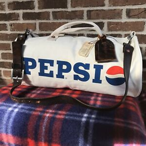 REEDERANG-MODIFIED-RARE-VINTAGE-1970s-RUGGED-CANVAS-PEPSI-DUFFEL-GYM-BAG-798