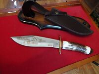Whitetail Cutlery Model Wt-073 12 Stag Handle Bowie Knife 440hc German S.s. Ld