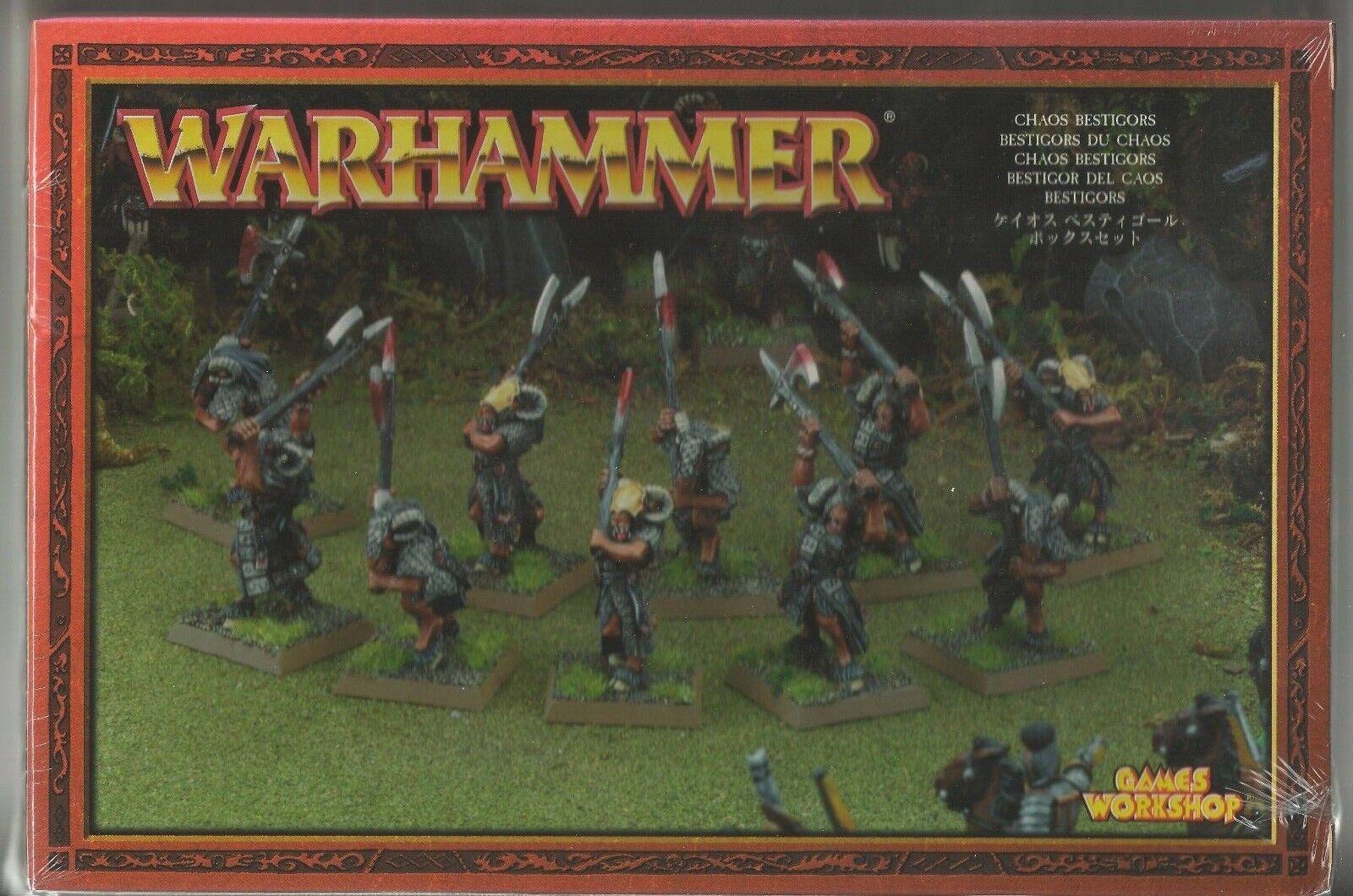 GW Warhammer Chaos bästigors 81 -14 (10 -modellllerler) -METAL SEALD låda RARE