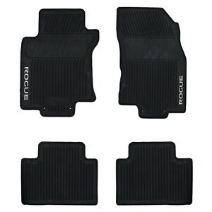 2014 2018 nissan rogue all weather rubber front rear floor mats set oem new ebay. Black Bedroom Furniture Sets. Home Design Ideas