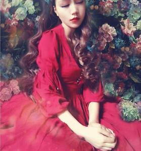 women-Lady-long-ball-gown-maxi-dress-party-evening-Cotton-Linen-retro-dress-boho