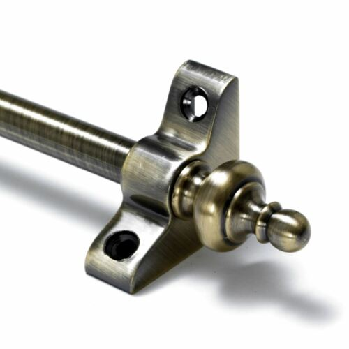 "Urn Finial Antique Brass Stair Rods Simplicity 3//8/"" x 28.5/"""