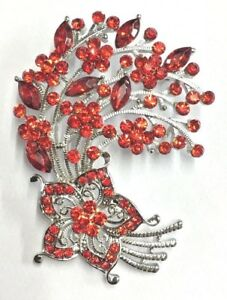 Simply Beautiful Finest RED Crystal Flower Silver Tone Brooch - Sutton-in-Ashfield, United Kingdom - Simply Beautiful Finest RED Crystal Flower Silver Tone Brooch - Sutton-in-Ashfield, United Kingdom