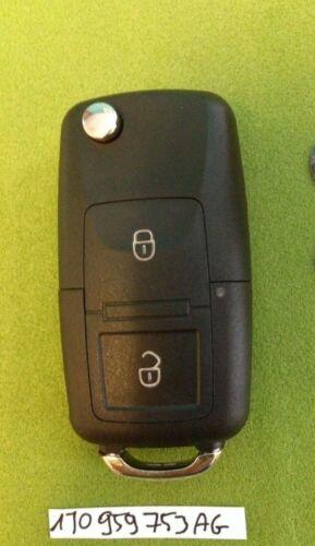 VW Seat Skoda 2 Botón Remoto Clave Fob HL0 1J0 959 753 AG Corte a código o Pic Gratis