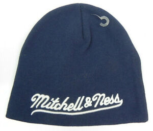 MITCHELL-amp-AND-NESS-UNCUFFED-KNIT-BEANIE-CAP-HAT-MANY-COLORS-TO-CHOOSE-NWT