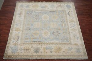 10X10-Square-Oushak-Area-Rug-Hand-Knotted-amp-Veg-Dyed-Wool-Oriental-10-2-x-10-2