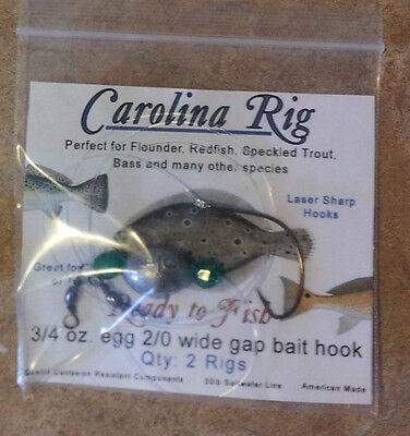 Carolina rig 10 rigs 3//4oz  2//0 circle hook  fishing rig catfish flounder fish