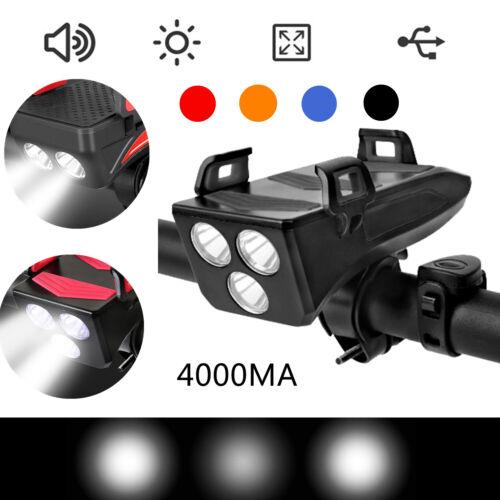 4000mAh USB Fahrradlicht mit Fahrradhupe //Telefonhalter//Power Bank Wasserdicht