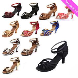 Brand-New-Women-039-s-Ballroom-Latin-Tango-Dance-Shoes-heeled-Salsa-9-Colors-217-S