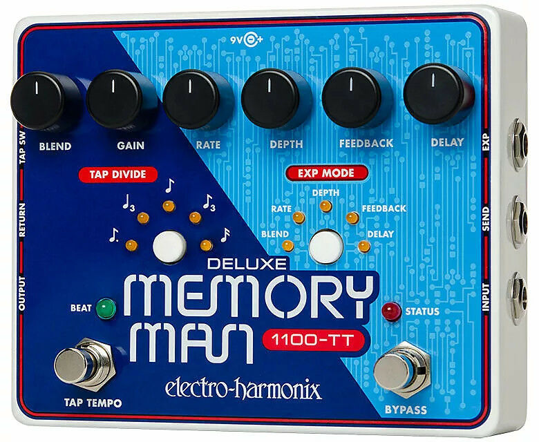 Electro-Harmonix Deluxe Memory Man Tap Tempo 1100-TT, BRAND NEW  FREE 2-3 DAY SH
