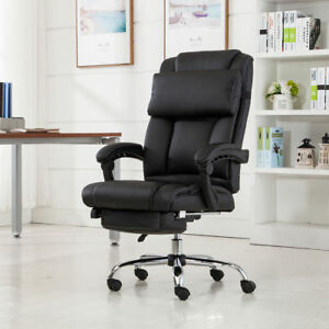 Image Is Loading Executive Reclining Office Chair Ergonomic High Back  Leather