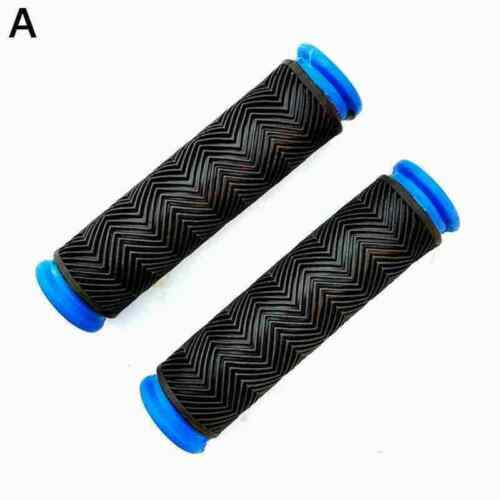 1 Pair Soft Rubber Anti Skid Handle Bar Black Grips Cycle Bicycle Universal Z7A8