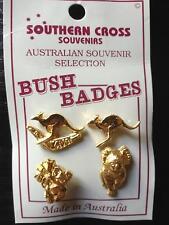 4 Stück Set PIN AUSTRALIEN gold farbig ANSTECKER Koala Känguru 2cm