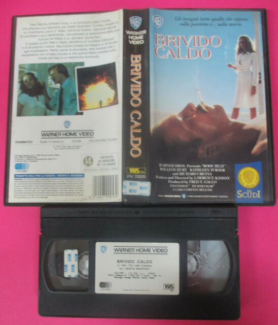 VHS film BRIVIDO CALDO 1993 William Hurt WARNER GLI SCUDI PIV 70005 (F215)no dvd
