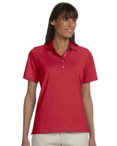 Ashworth-Womens-Combed-Cotton-Pique-Polo-Shirt-Red-M-NKF5Y-M232