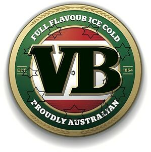 VB-BEER-VIC-BITTER-DECAL-STICKER-LABEL-DIA-LARGE-240-MM-HOT-ROD-FRIDGE-BAR