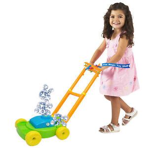 Kids Auto Bubble Lawn Mower Bubbles Machine Blower Garden