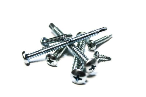 8x1-1//2 Phillips Pan Head Zinc Plated Self Drilling Screws 100