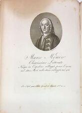 1816 INCISIONE REGNO DI NAPOLI MARCO MONDO CAPODRISE CASERTA LETTERATO Morghen