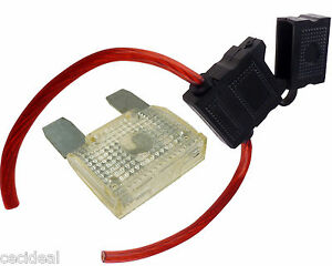 8 gauge inline maxi fuse holder with 80 amp fuse with cover new ebay rh ebay com Circuit Breaker ge fuse box replacement parts