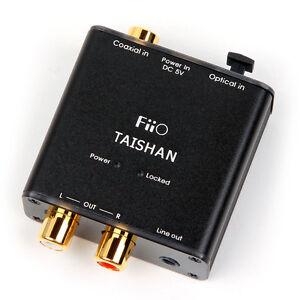 FiiO D03K Taishan Coaxial/Optical to R/L Audio convertor. FREE UK Postage