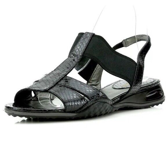Cole Haan Air Bria T-Sling Snake Embellished nero nero nero Sandals 7277 Dimensione 7 B NEW  5684b1