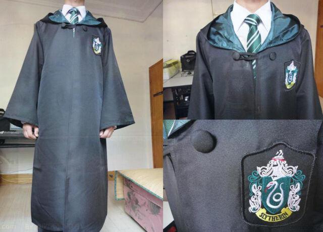 Harry Potter Adult Robe Cloak Cape Gryffindor/Slytherin/Ravenclaw Christmas Gift