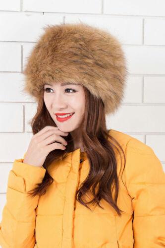 HOT Ladies Women Faux Fox Fur Russian Cossack Style Hat Winter Ski Headband Hats