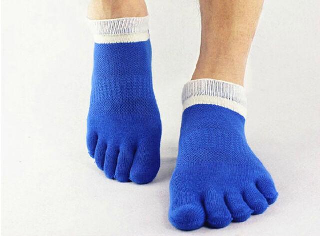 Excellent Quality Blue Men's Socks Cotton Sports Toe Breathable Five Finger