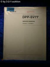 Sony Service Manual DPP SV77 Volume 2 1st Edition Photo Printer (#6455)