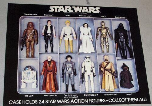 1978 Vintage Star Wars 12 indietro Figura VINILE caso INSERTO POSTER REPRO Fett freesp