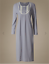 M /& COLLECTION BLUE GREY MIX SLINKY JERSEY SHORT OR STANDARD NIGHTDRESS