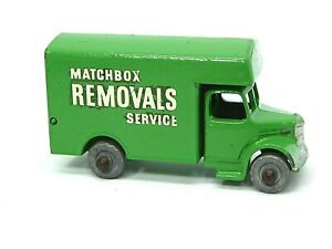 Matchbox-Lesney-Bedford-Removal-Van-No-17a-verde-Claro