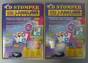 2 Cd Stomper Pro Cd Labeling System Kit Software Labels Applicator 1