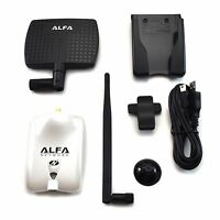 Alfa AWUS036NHR V2 Wireless N USB Adapter 2000mW + 7dBi Antenna + U-Mount