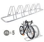 1 - 5 Bike Floor Parking Rack Storage Stand Bicycle