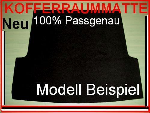 "Neu schwarze Kofferraummatte AUDI A2 Bj.99-05 /""Nr.200/"""