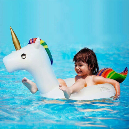 Licorne Gonflable Anneau Kids Swim piscine Summer Bateau Flottant Piscine Radeau NEUF