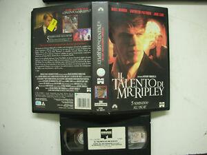 Il Talento Di Mr.Ripley 1999 VHS Italian